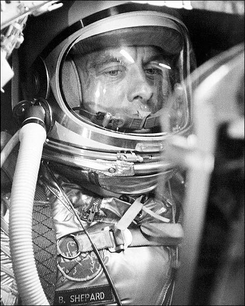 Astronaut Alan Shepard in Mercury Capsule Photo Print for Sale