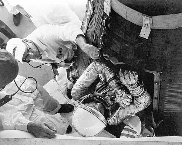Mercury Astronaut Alan Shepard in Capsule Photo Print for Sale