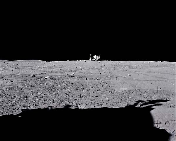 Apollo 16 Astronaut John Young Lunar Rover Photo Print for Sale