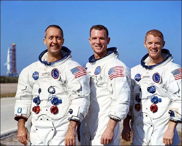Apollo 9 Astronauts Group Portrait NASA Photo Print for Sale