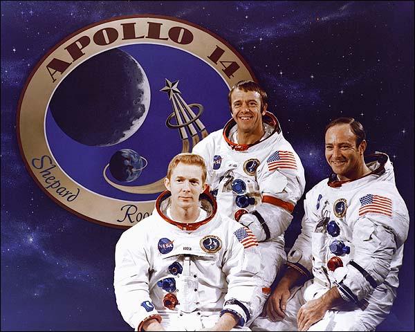 Apollo 14 Roosa, Shepard & Mitchell NASA Photo Print for Sale