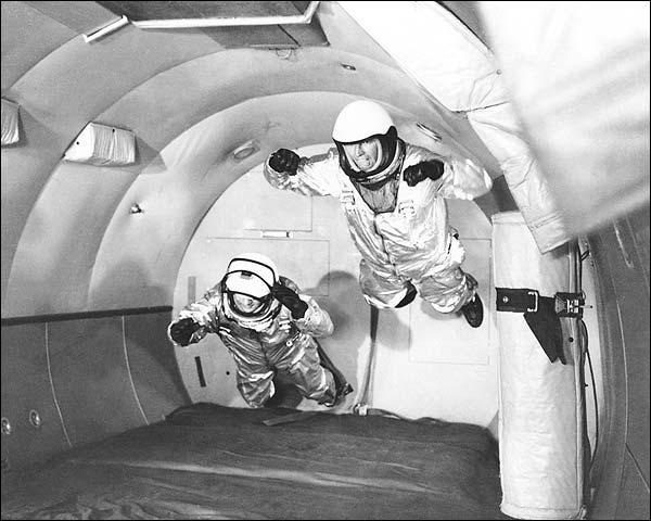 Mercury Astronauts Simulate Weightlessness Photo Print for Sale