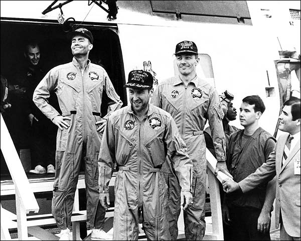 Apollo 13 Crew Arrives Aboard USS Iwo Jima Photo Print for Sale
