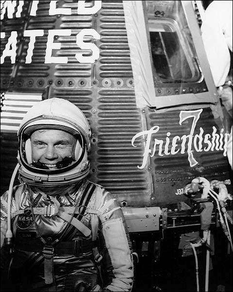 Mercury Friendship 7 Astronaut John Glenn Photo Print for Sale