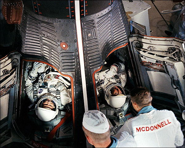 Gemini V Astronauts Cooper & Conrad NASA Photo Print for Sale