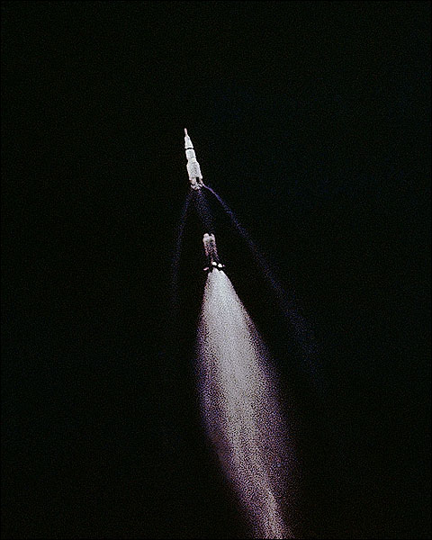 Apollo 11 Saturn V 1st Stage Separation Photo Print for Sale