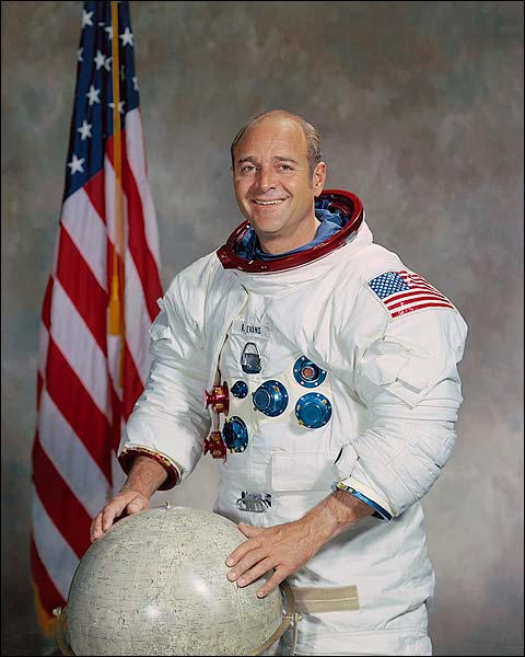 Apollo 17 Astronaut Ronald Evans Portrait Photo Print for Sale