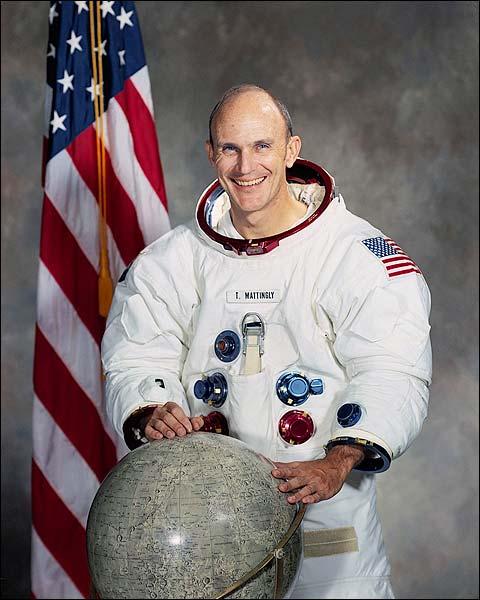 Apollo 16 Thomas Mattingly Portrait Photo Print for Sale