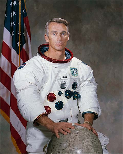 Apollo Astronaut Eugene Cernan Portrait WSS Photo Print for Sale