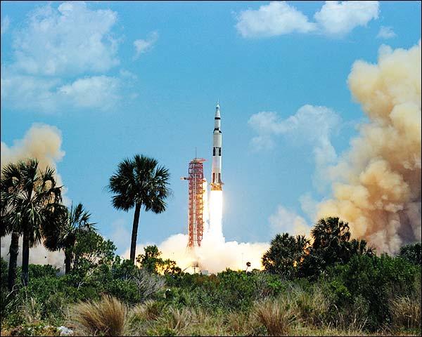 Apollo 16 Saturn V Spacecraft Launch NASA Photo Print for Sale