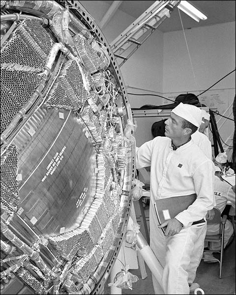 Mercury Atlas 7 Scott Carpenter White Room NASA Photo Print for Sale