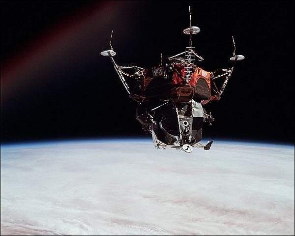 NASA Apollo 9 Lunar Module 'Spider' in Earth Orbit  Photo Print for Sale