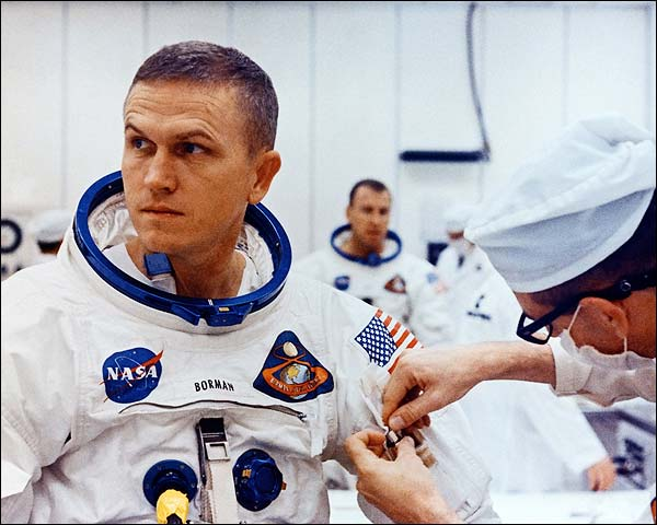 Apollo 8 Astronaut Frank Borman in Spacesuit Photo Print for Sale