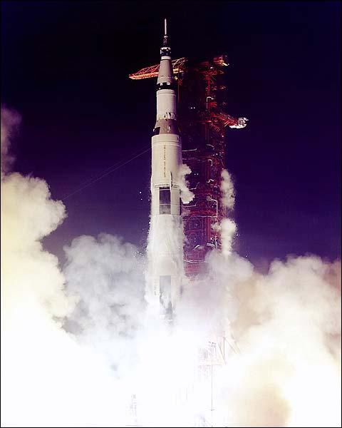 Apollo 17 Saturn V Rocket Launch Photo Print for Sale