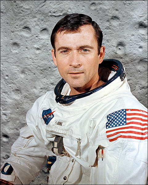 Apollo 10 Astronaut John Young Portrait Photo Print for Sale