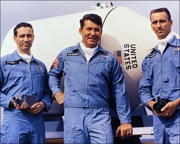 NASA Apollo 7 Schirra, Eisele & Cunningham Photo Print for Sale