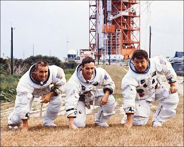 Apollo 7 Flight Crew Candid Group Portrait  Photo Print for Sale