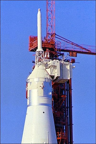 NASA Apollo 7 Spacecraft on Launch Pad Photo Print for Sale