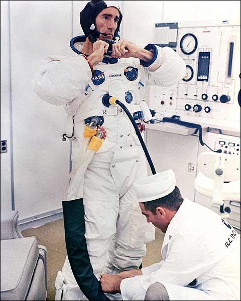 NASA Apollo 7 Astronaut Walter Cunningham Photo Print for Sale