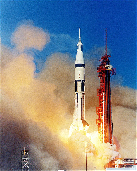 NASA Apollo 7 Saturn 1B Rocket Launch Photo Print for Sale
