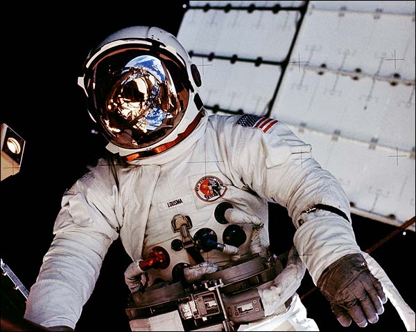 NASA Astronaut Jack R. Lousma EVA Skylab 3 Photo Print for Sale