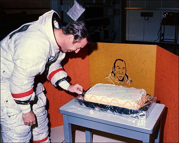 Astronaut James Lovell Birthday Cake Apollo 13 Photo Print for Sale