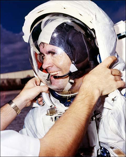 NASA Astronaut Fred Haise EVA Training Photo Print for Sale
