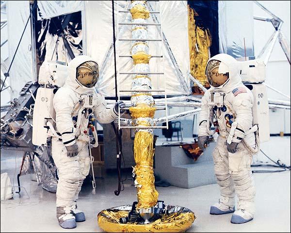 NASA Jim Lovell & Fred Haise Lunar Module Photo Print for Sale