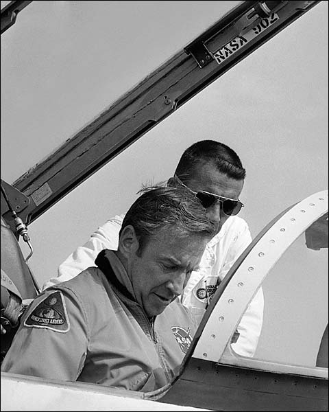 Apollo 13 Jim Lovell in T-38 Aircraft at Patrick AFB Photo Print for Sale
