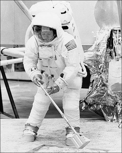 Apollo 11 Neil Armstrong in Training Photo Print for Sale