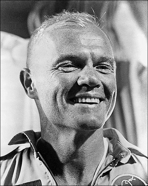 Astronaut John Glenn Aboard USS Randolph Photo Print for Sale