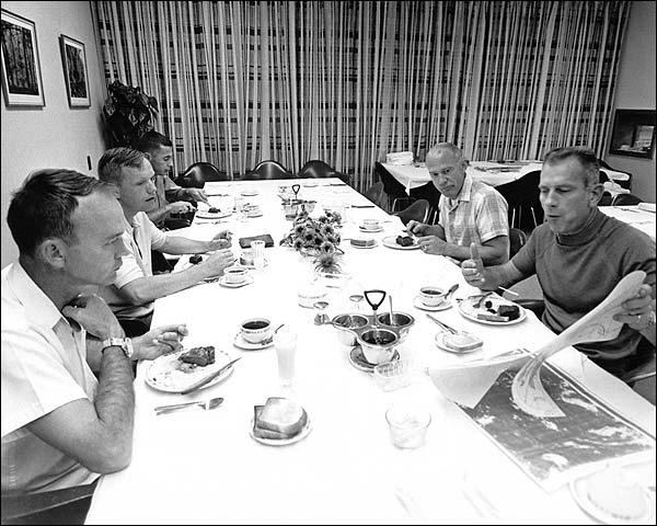 Apollo 11 Astronauts Pre-Launch Breakfast Photo Print for Sale