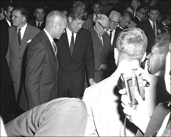 President John F Kennedy w/ John Glenn Photo Print for Sale