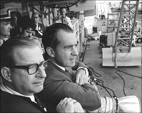 Nixon and Paine Await Apollo 11 Crew Photo Print for Sale