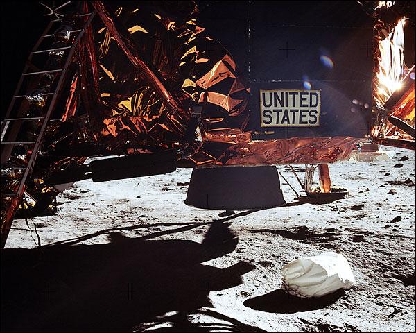 Apollo 11 Lunar Module Skirt in Space Photo Print for Sale