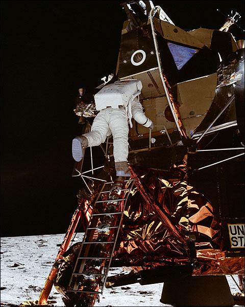 Apollo 11 Buzz Aldrin Descends to Moon Photo Print for Sale