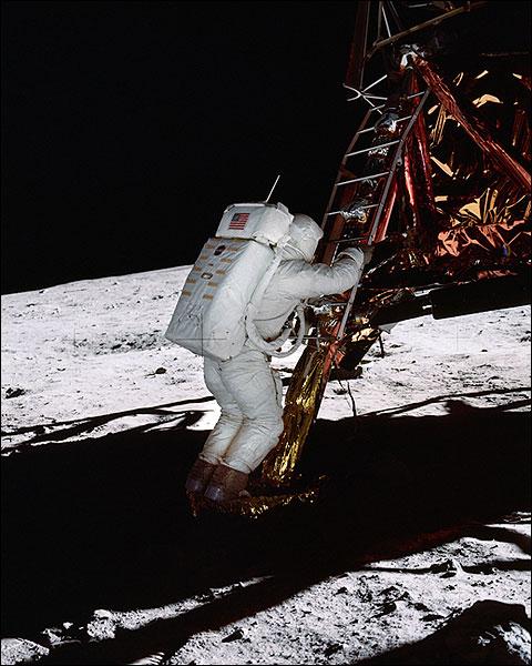 Apollo 11 Buzz Aldrin on Lunar Surface Photo Print for Sale