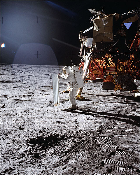 Apollo 11 Buzz Aldrin Lunar Experiment Photo Print for Sale