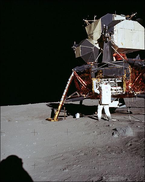 Apollo 11 Buzz Aldrin and Lunar Lander Photo Print for Sale