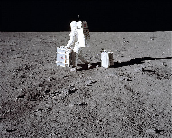 Apollo 11 Buzz Aldrin Lunar Experiments Photo Print for Sale