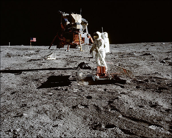 Apollo 11 Seismic Experiment Buzz Aldrin Photo Print for Sale