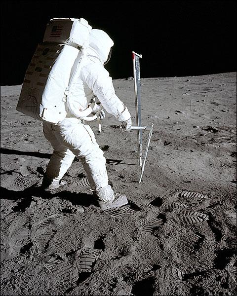 Apollo 11 Buzz Aldrin Solar Wind Experiment Photo Print for Sale