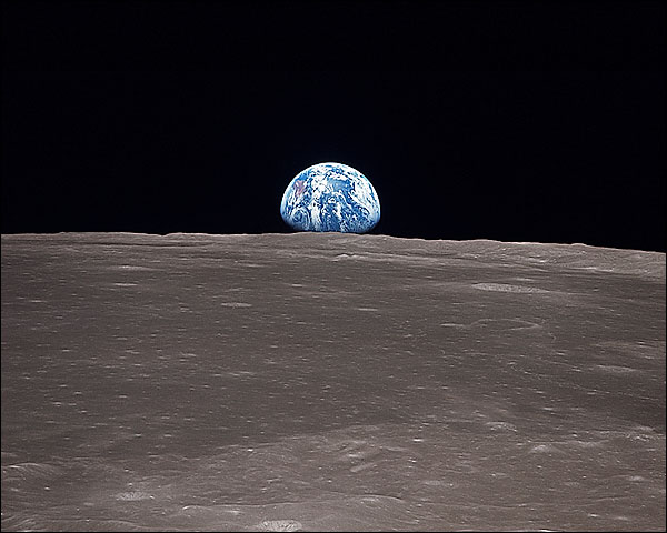 Apollo 11 Earth Clearing Moon Horizon Photo Print for Sale