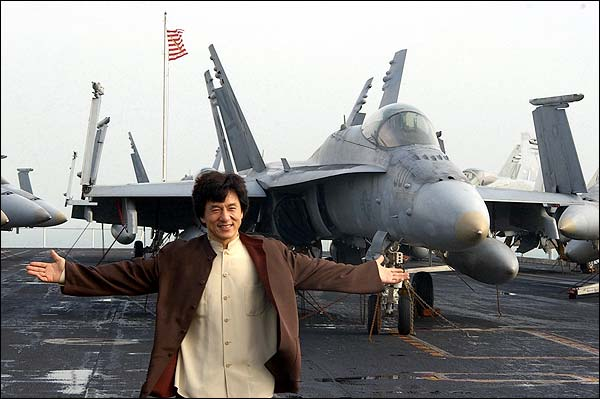 Jackie Chan Aboard USS Kitty Hawk Photo Print for Sale