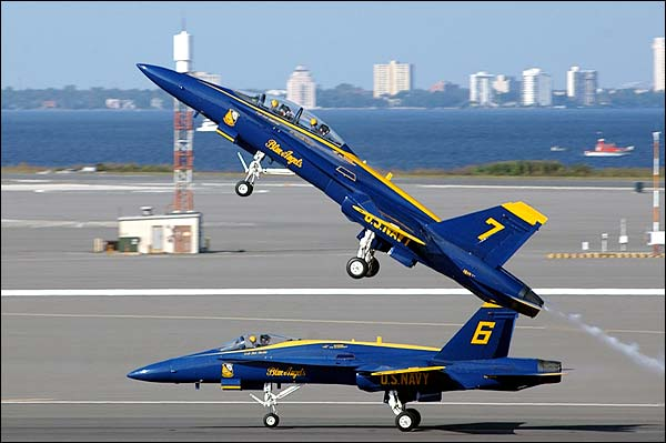 US Navy Blue Angels F-18 Take-off Photo Print for Sale