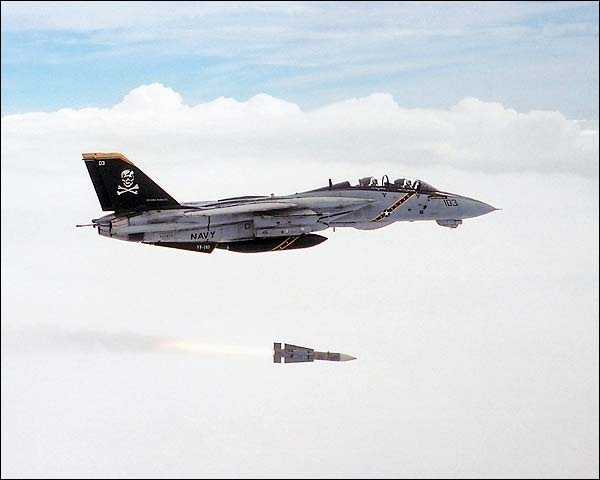 U.S. Navy F-14 Tomcat Fires Missile  Photo Print for Sale