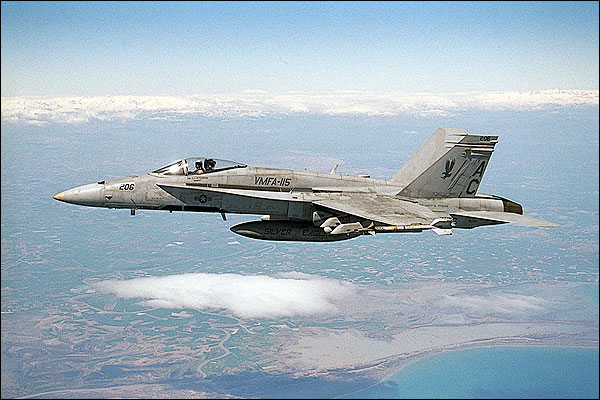 F/A-18 Hornet VMFA-115 in Flight F-18 Photo Print for Sale