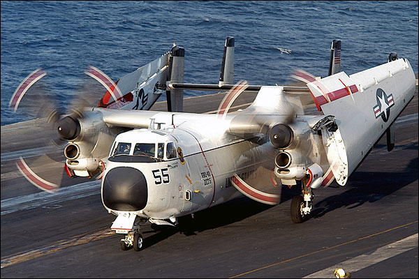 C-2 Greyhound CVW-8 on Deck Taxi Navy Photo Print for Sale