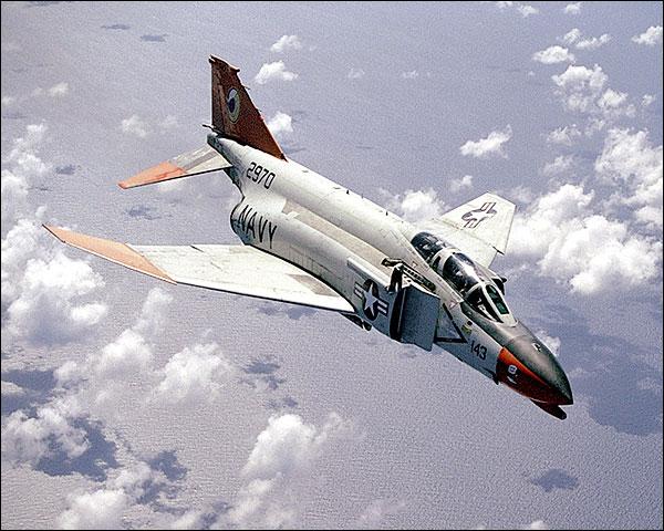 U.S. Navy F-4 Phantom in Flight Photo Print for Sale