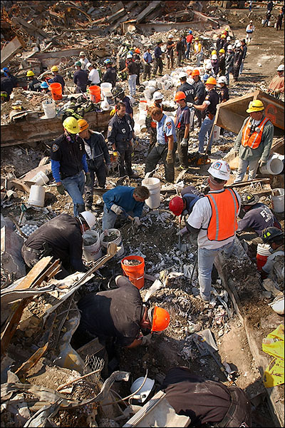9/11 WTC Ground Zero Rescue Workers Photo Print for Sale